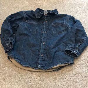 Gymboree fleece lined denim shirt  size 5